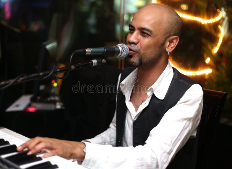 Músico y cantante imagen de archivo