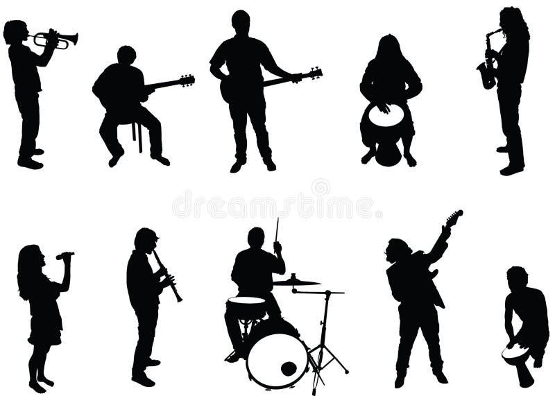 Músicos ilustración del vector