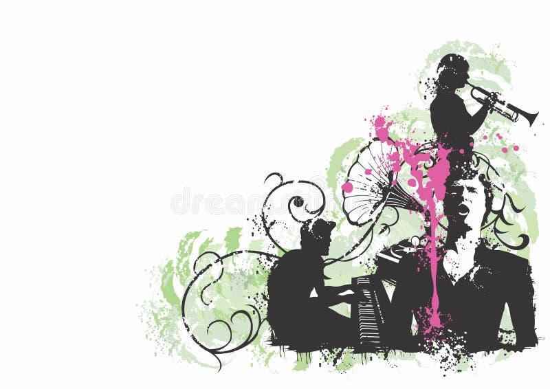 Músicos ilustração royalty free