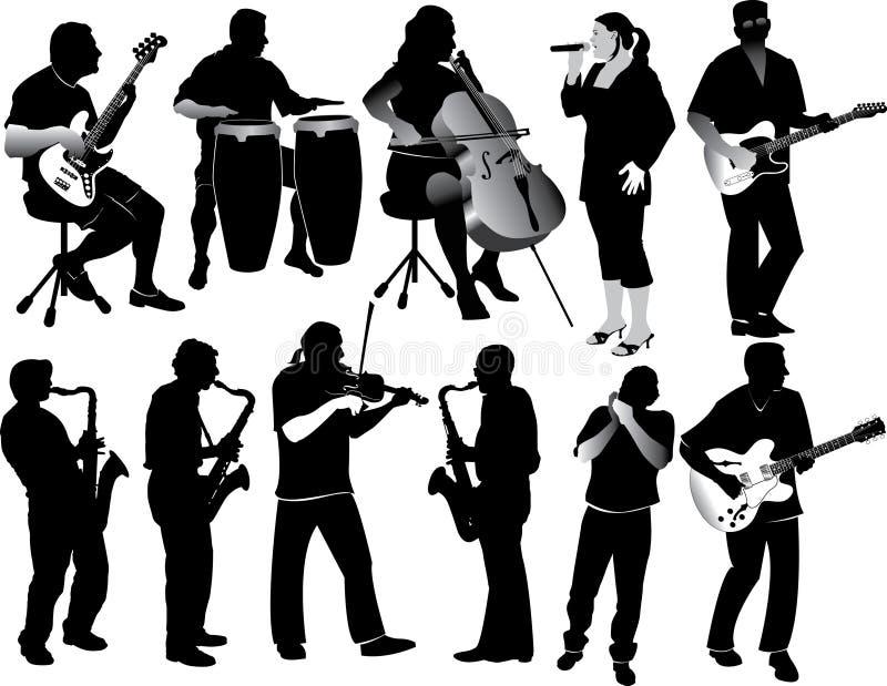 Músicos stock de ilustración