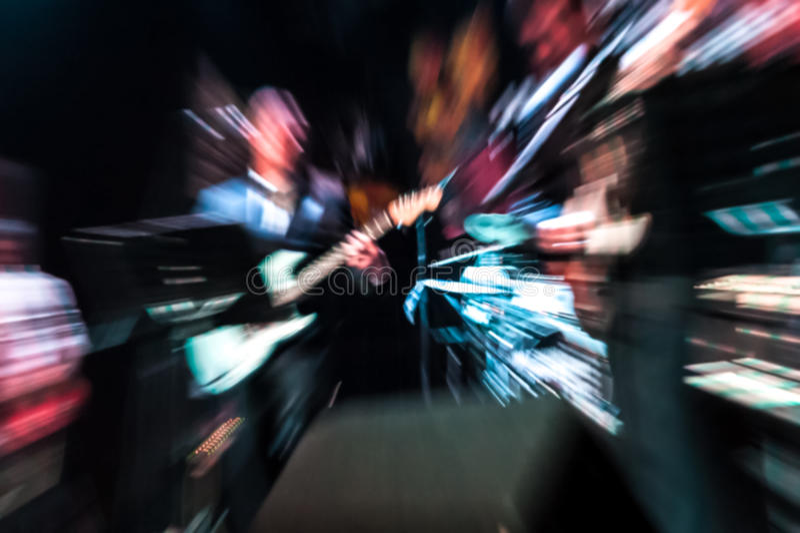 Músicos borrados fotografia de stock royalty free