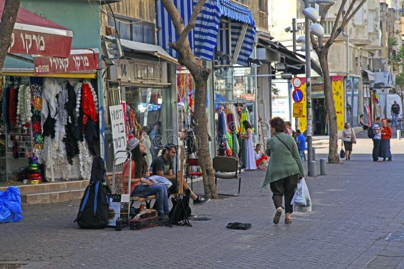 Músicos da rua, Tel Aviv, Israel imagens de stock