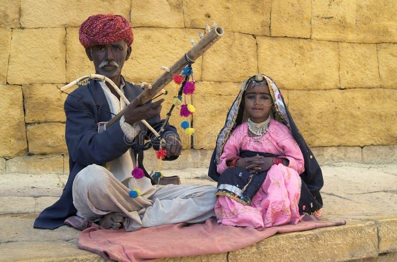 Músicos de Jaisalmer fotografía de archivo