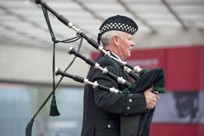 Músicos de la montaña de Escocia fotografía de archivo libre de regalías