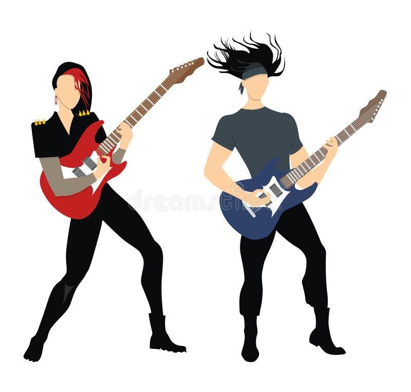 Músicos de la roca libre illustration