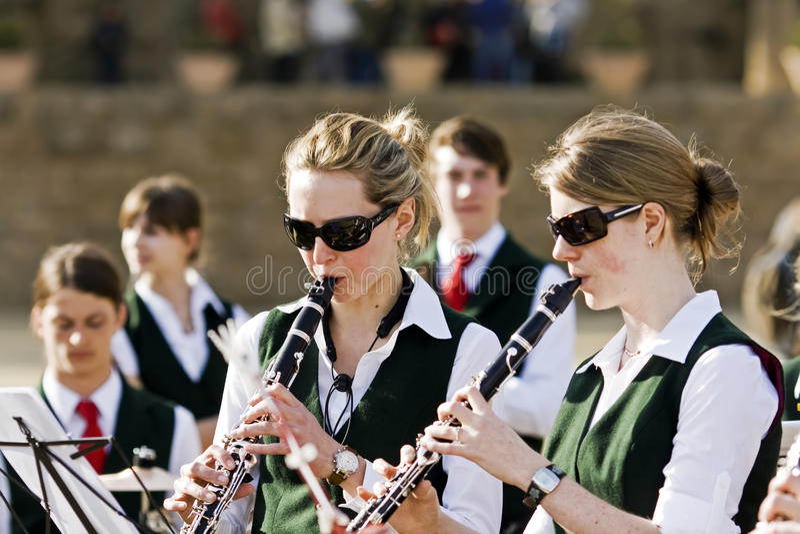 Músicos de las adolescencias foto de archivo libre de regalías