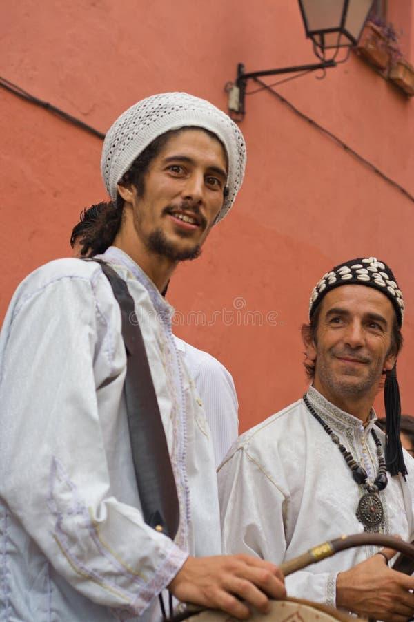 Músicos de las Edades Medias foto de archivo