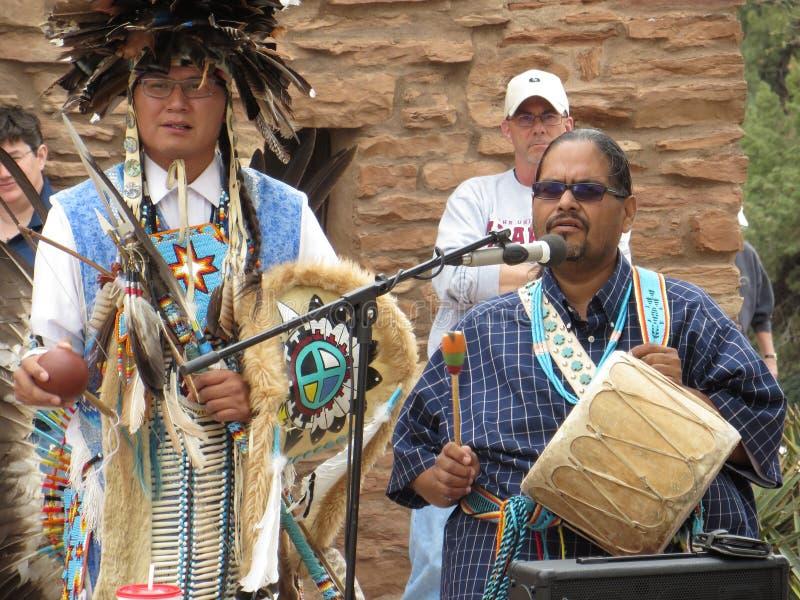 Músicos de Navajo, Grand Canyon imágenes de archivo libres de regalías