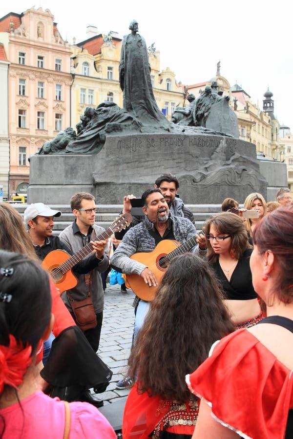 Músicos em Khamore - festival de roma do mundo imagem de stock royalty free