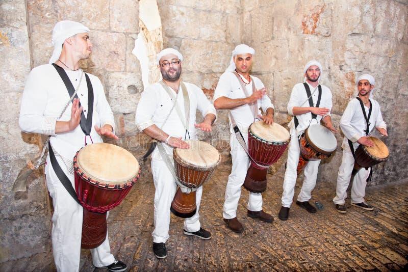 Músicos famosos do Israeli, Jerusalem, Israel foto de stock royalty free