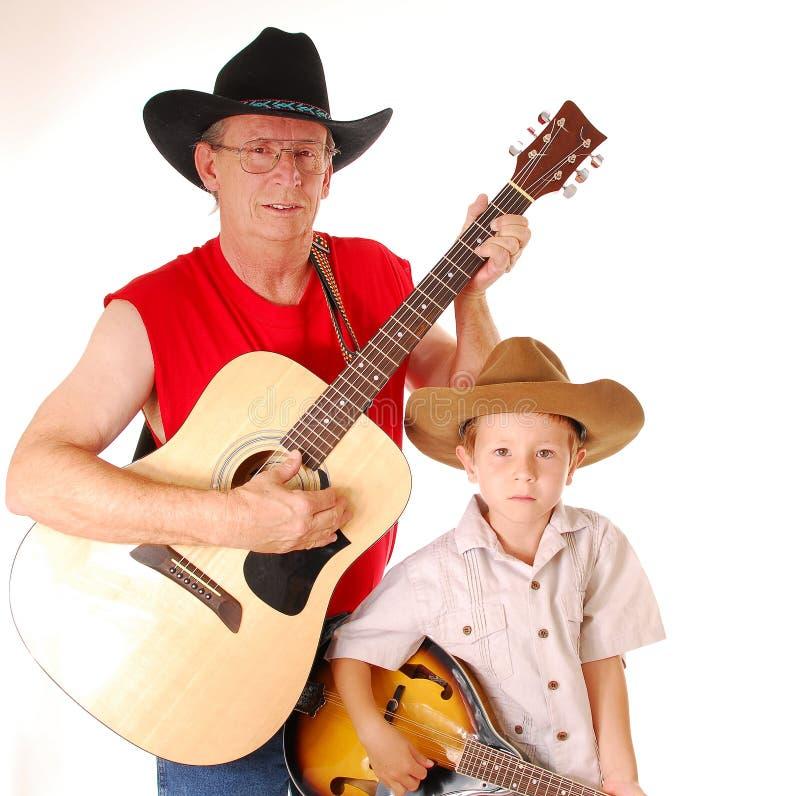 Músicos idosos 2 do país do tempo fotografia de stock