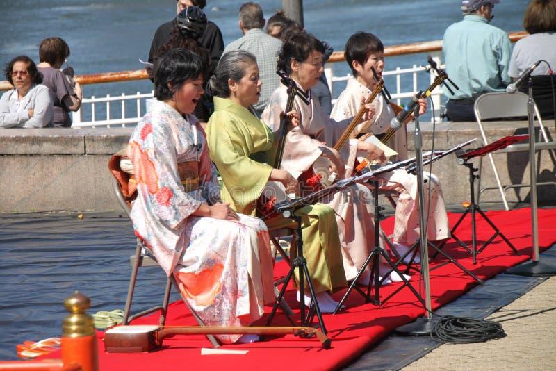 Músicos japoneses imagem de stock