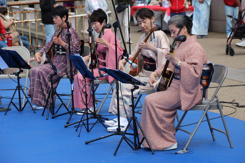 Músicos japoneses foto de stock