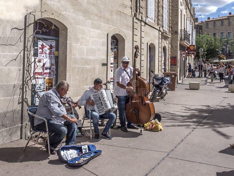 Músicos que juegan en la calle foto de archivo libre de regalías