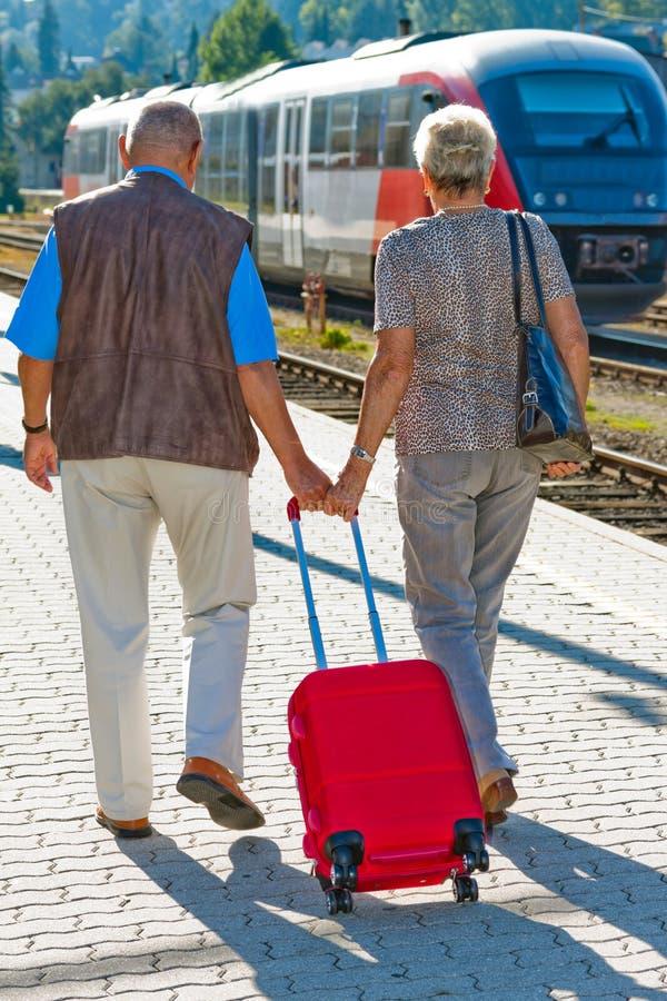 Mûrissez les couples âgés à photographie stock libre de droits