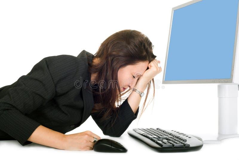 Müde Geschäftsfrau lizenzfreie stockfotos