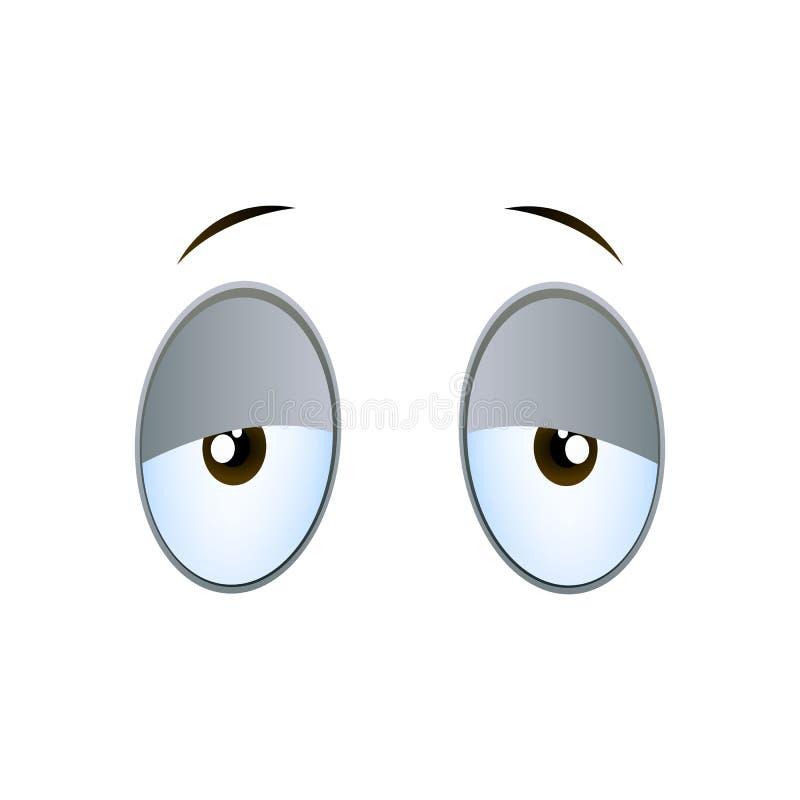 Müde Karikatur-Augen vektor abbildung