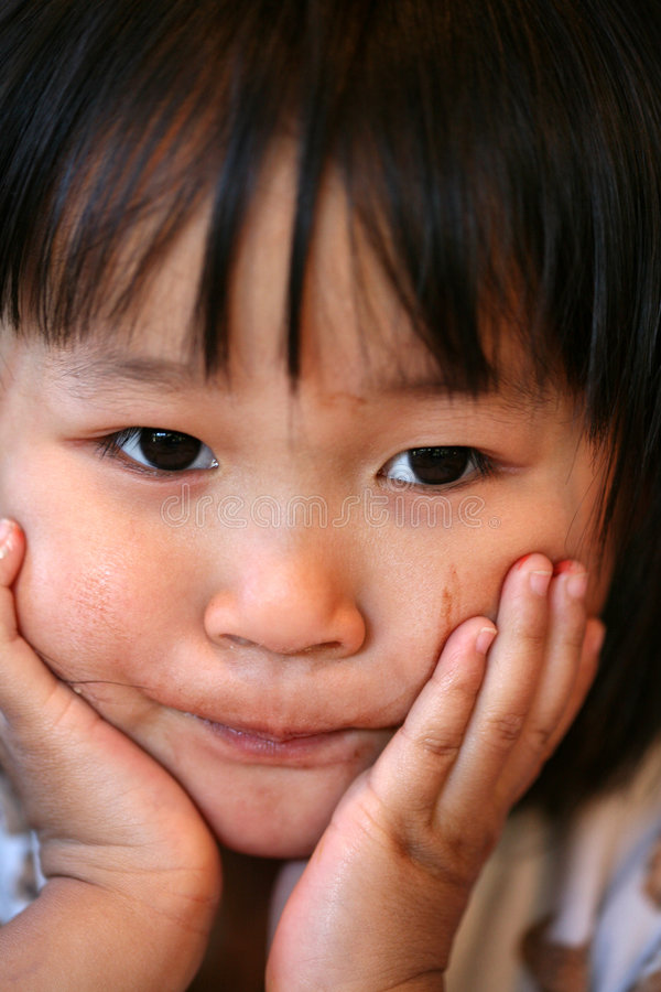 Müde Kindausdrücke stockbilder