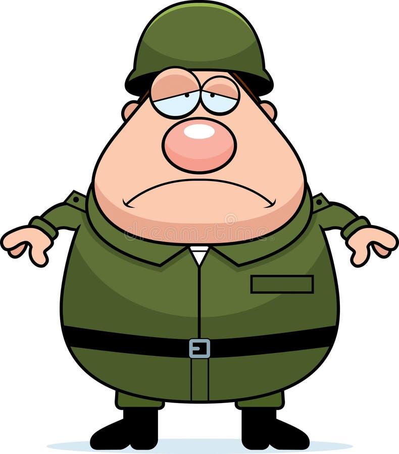 Müder Soldat lizenzfreie abbildung