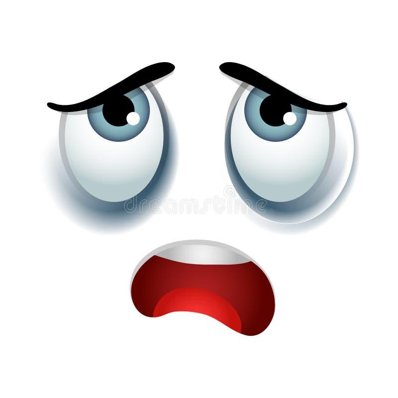 Müdes Emoticonzeichen stock abbildung