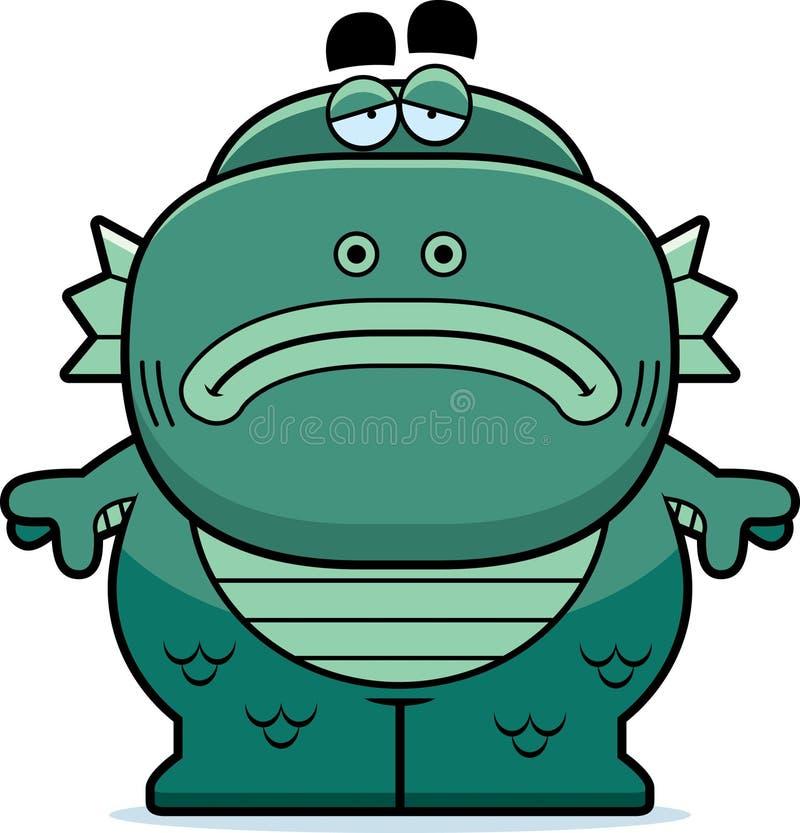 Müdes Karikatur-Geschöpf stock abbildung