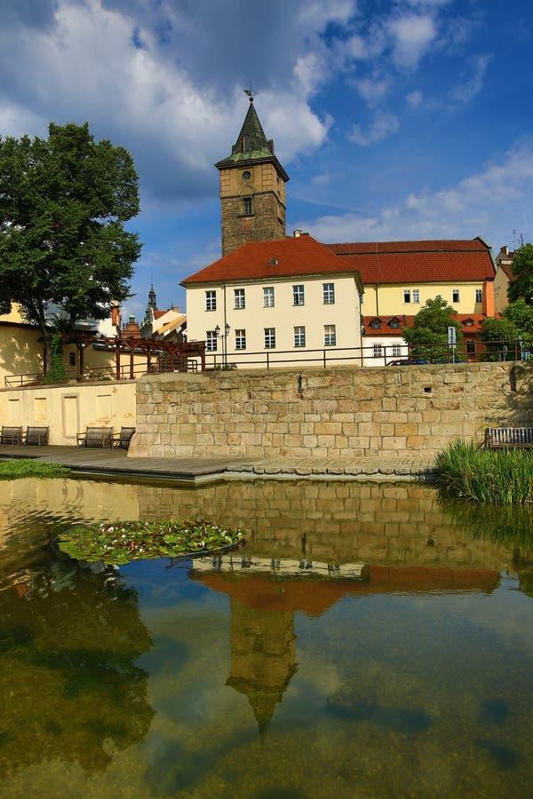 Mühlabzugsgraben (Tscheche: MlÃ-½ nskà ¡ strouha), alte Architektur, Pilsen, Tschechische Republik stockfotos