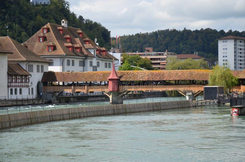 Mühlbrücke in der Luzerne lizenzfreies stockfoto