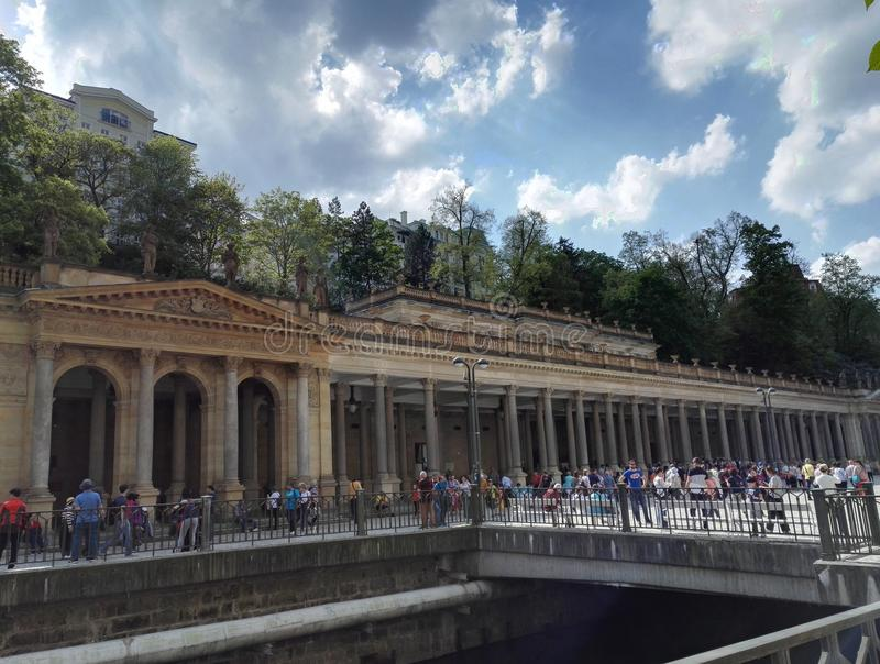 Mühlkolonnade, Karlsbad, Karlovy Vary lizenzfreie stockfotografie