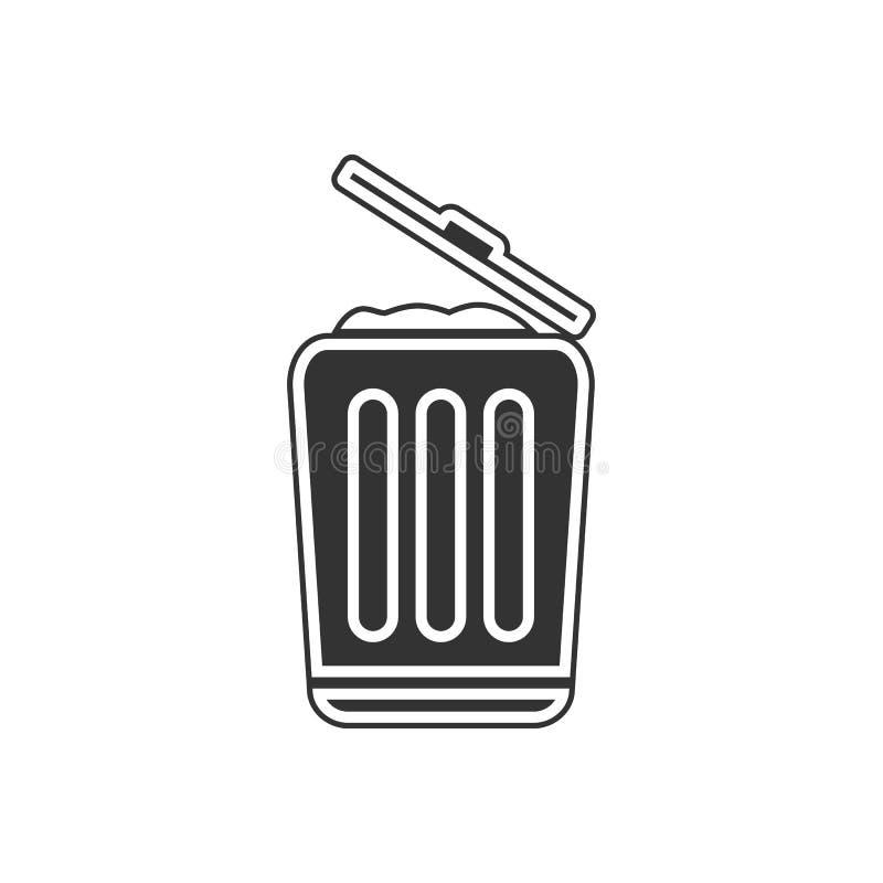 Mülleimerikone Element der Navigation für bewegliches Konzept und Netz Appsikone Glyph, flache Ikone für Websiteentwurf und Entwi vektor abbildung