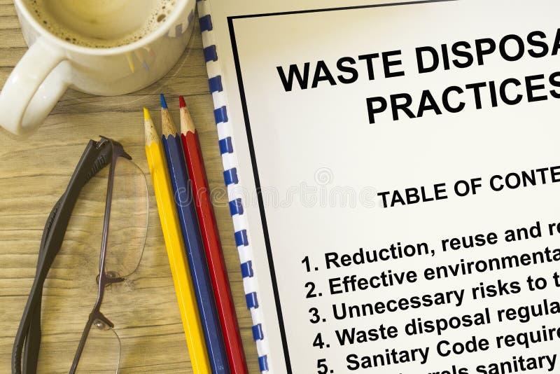 Müllentsorgung lizenzfreie stockfotos