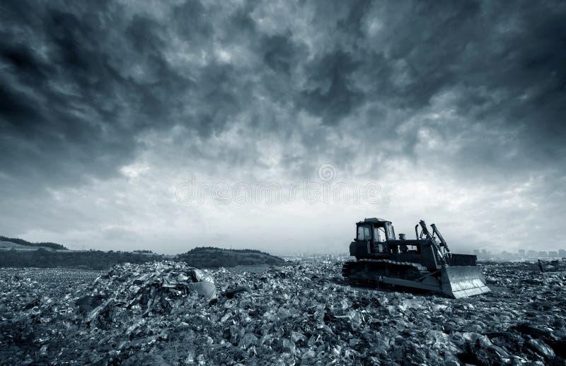 Müllgrube stockfoto