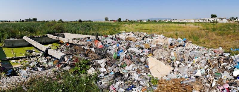 Müllgrubenabfall stockbilder