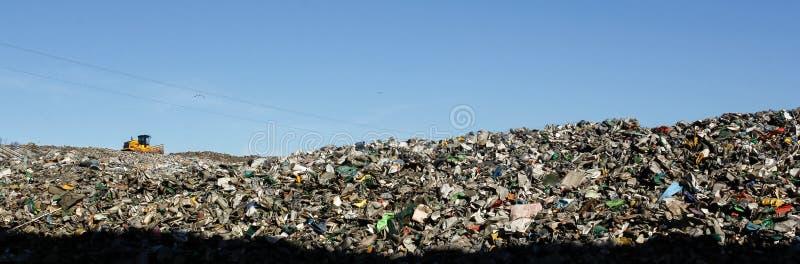 Müllgrubenlandschaft lizenzfreie stockfotografie