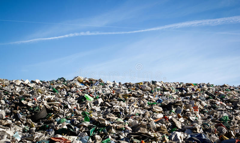 Müllgrubenlandschaft stockfotografie