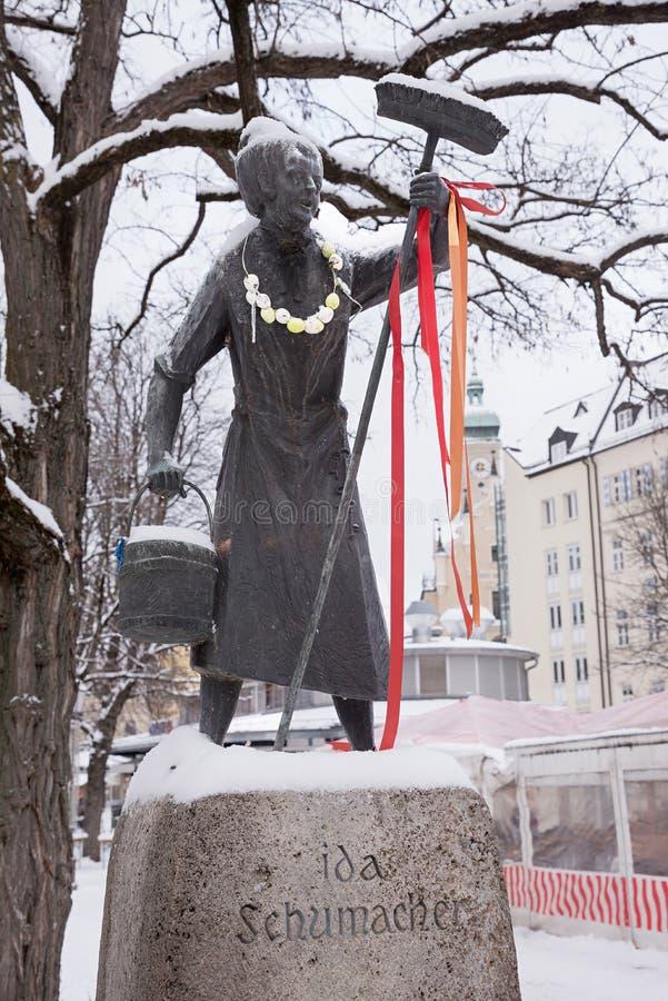 MÜNCHEN, BEIEREN, DUITSLAND, 16 Januari, 2017 - fontein IDA SCHU royalty-vrije stock foto