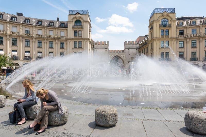 München-Brunnen lizenzfreies stockfoto