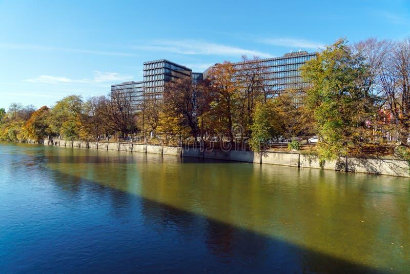 München, Deutschland - 20. Oktober 2017: Gestalt des Europäischen Patentamts lizenzfreie stockfotos