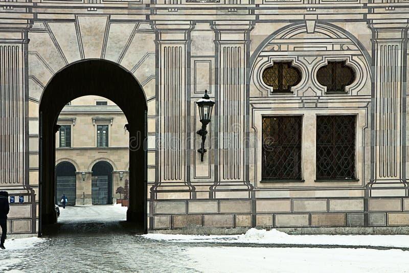 München, Deutschland - Residenz-Palast im Winter, Detail lizenzfreies stockfoto