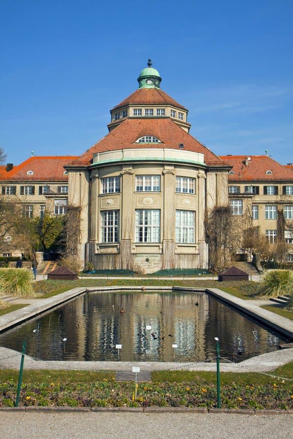 München, Duitsland - Botanisch Tuin centraal de bouwdetail met stock fotografie