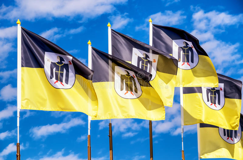 München-Flaggen stockfotografie