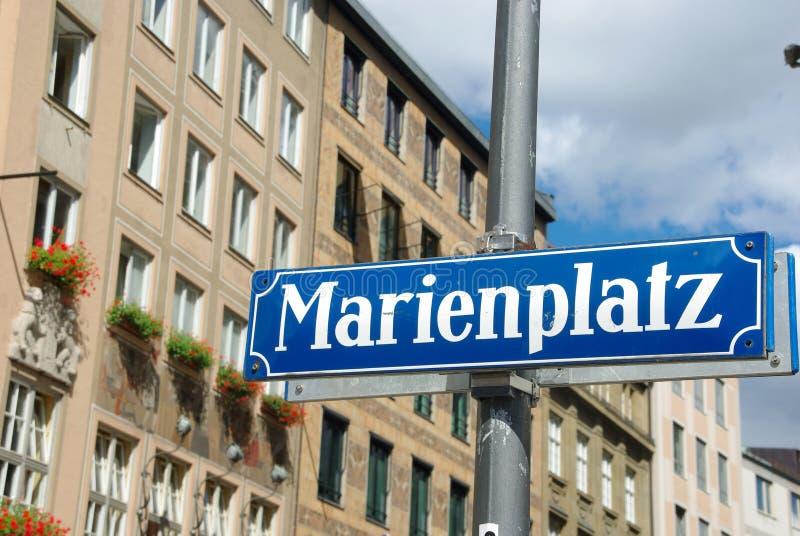 München Marienplatz stock foto