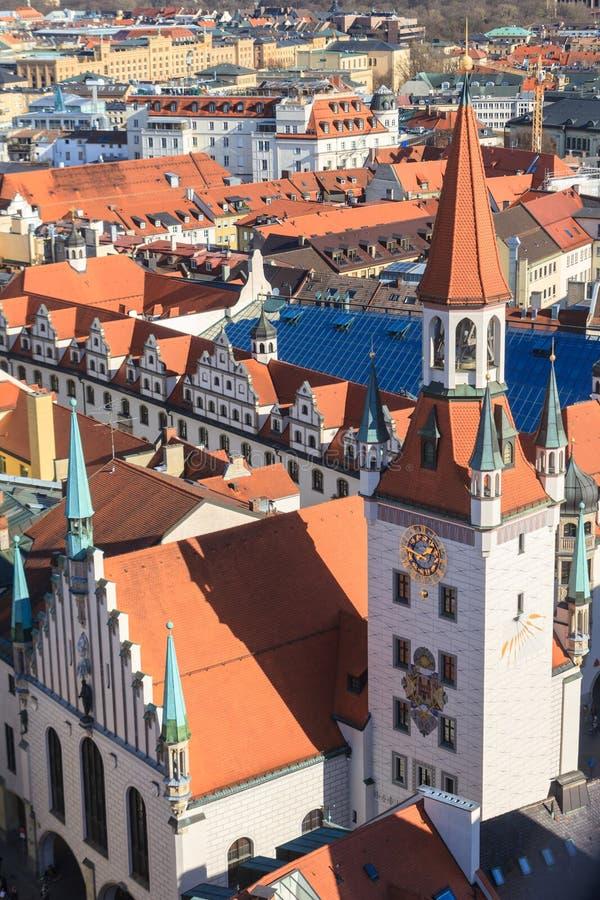München, Oud Stadhuis met Toren, Beieren stock fotografie