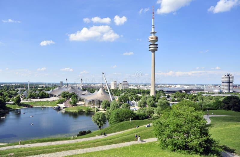 München van Olympiapark royalty-vrije stock afbeelding