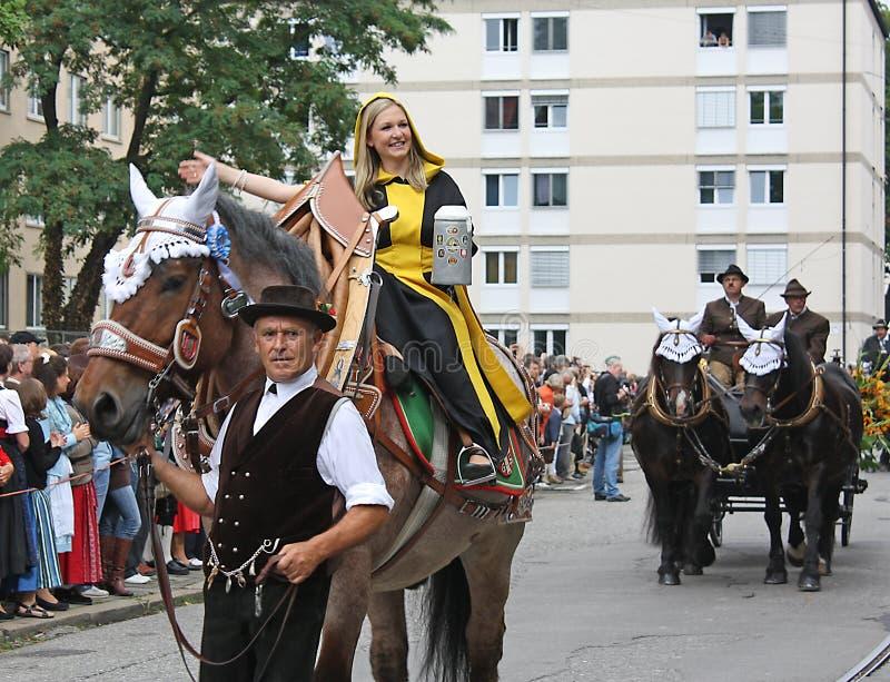 Münchner Kindl chez Oktoberfest images libres de droits