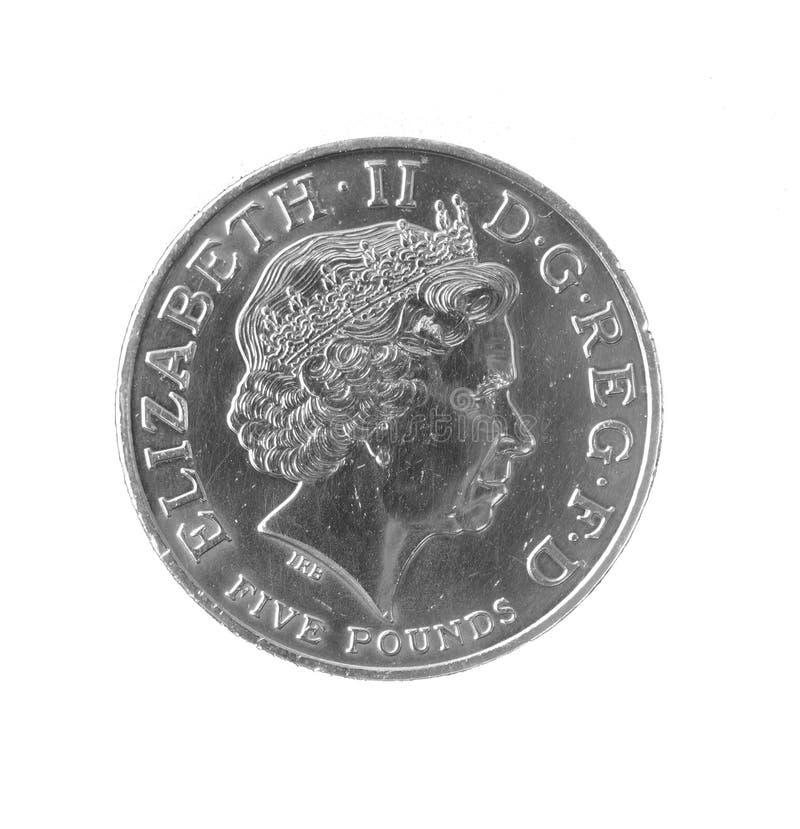 Münze £5 stockfoto