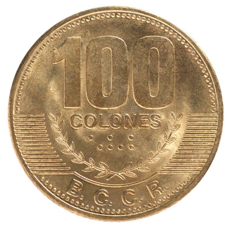 Münze Costa Rica stockbilder
