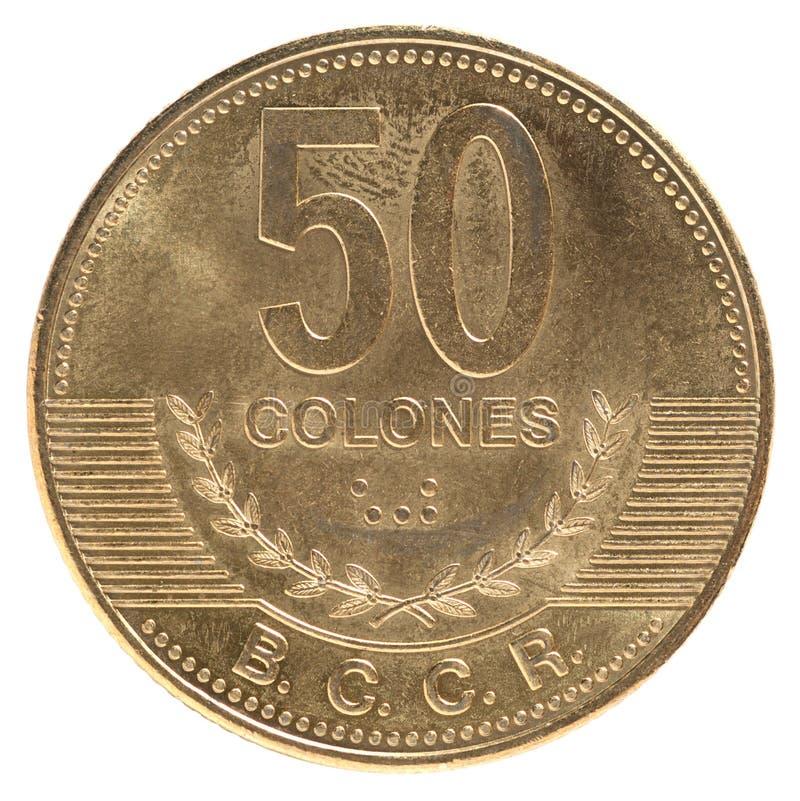 Münze Costa Rica lizenzfreie stockfotografie