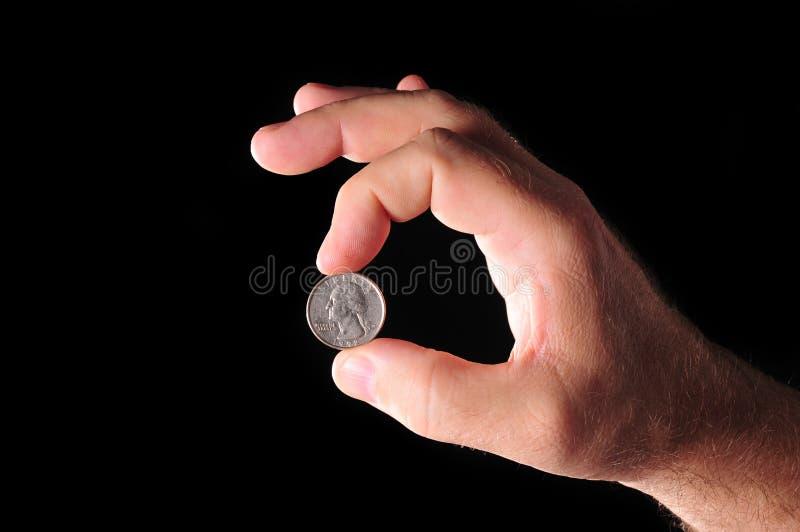 Münze in der Hand lizenzfreies stockfoto