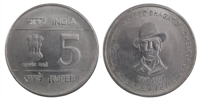 Münze der indischen Rupie lizenzfreie stockfotos