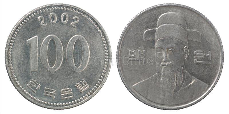 Münze der koreanischer Won lizenzfreie stockfotografie